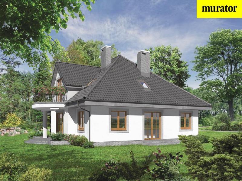 Проект дома с мансардой m68c - хорошо гадаю - вариант iii na.